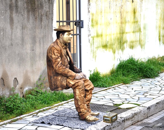 socha na ulici