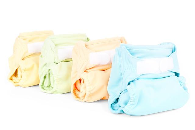 barevné látkové pleny na suchý zip