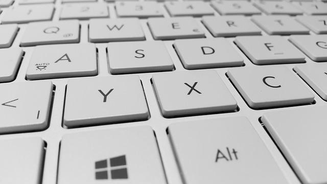 detail počítačové klávesnice