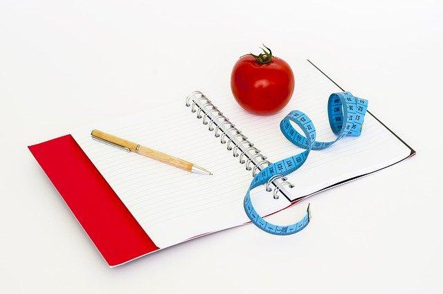 zápisník na diety